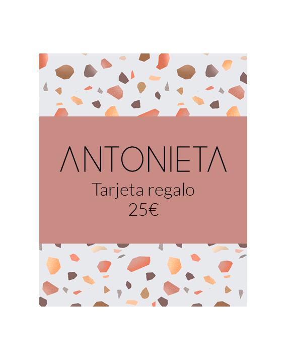 Tarjeta regalo imprimible 25€